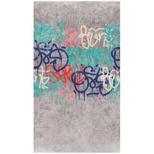 Bodenmeister Fototapete »Graffiti streetart«, Rolle 2,80x1,59m, grau