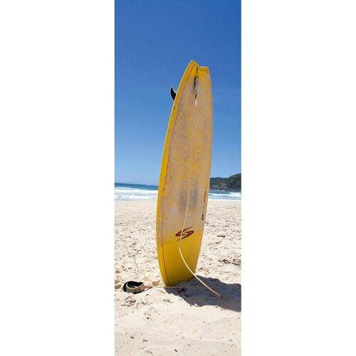 living walls Fototapete »Surfboard im Sand«, FSC®