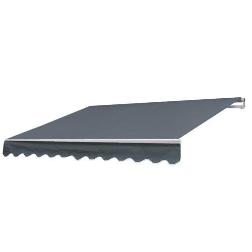 MCW Gelenkarmmarkise »H790« Inklusive Volant, UV-Schutz 50, grau