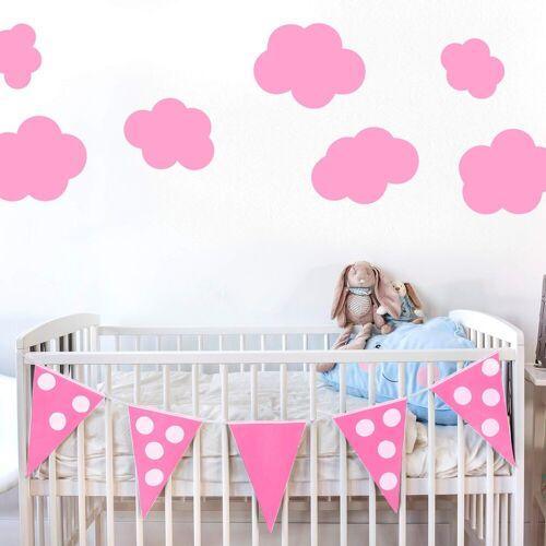 Wandtattoo »Wolken-Set«, rosa
