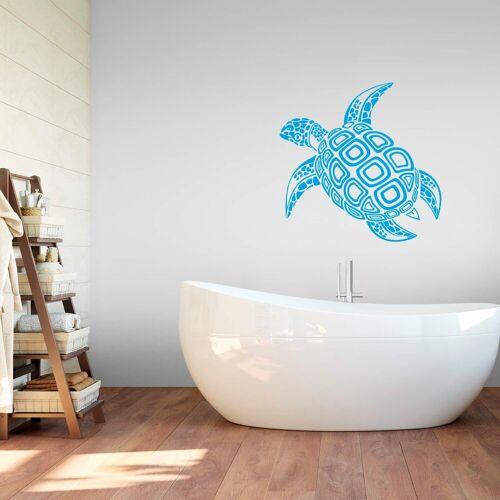 ART Wall-Art Wandtattoo »Schildkröte«, blau