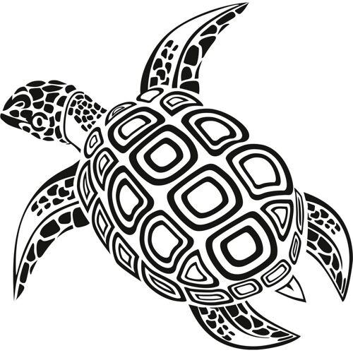 ART Wall-Art Wandtattoo »Schildkröte«, schwarz