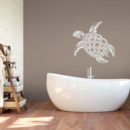 ART Wall-Art Wandtattoo »Schildkröte«, weiß