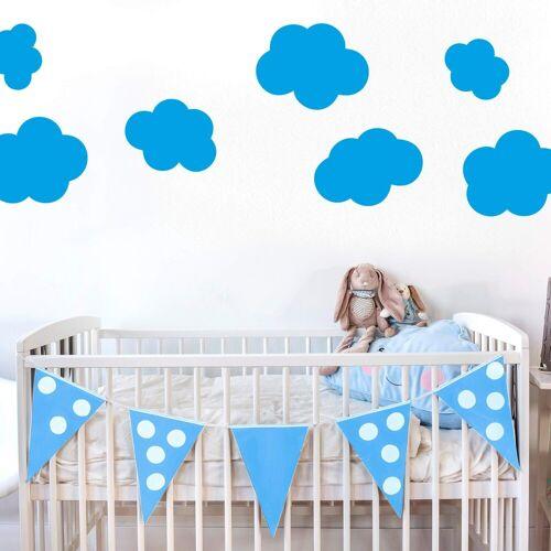 ART Wall-Art Wandtattoo »Wolken-Set«, blau
