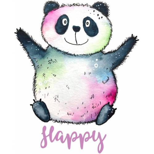 Wandtattoo »Happy Panda«