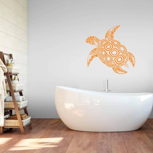 ART Wall-Art Wandtattoo »Schildkröte«, orange