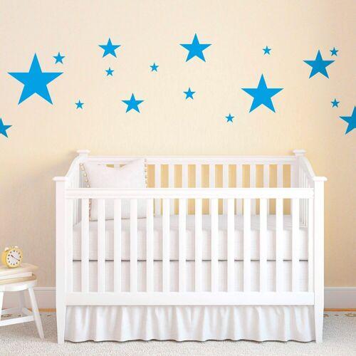 Wandtattoo »Sterne«, blau