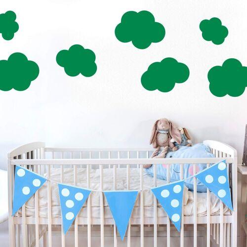 Wandtattoo »Wolken-Set«, grün