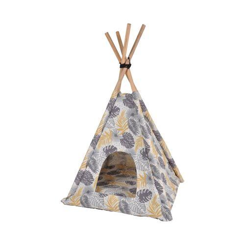 dynamic24 Katzenzelt, Tipi Tierzelt + Kissen Hunde Katzen Zelt Höhle Hunde Kissen Hundekorb Bett Nest