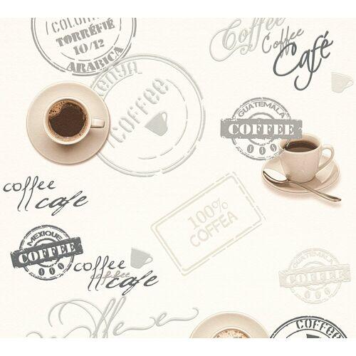 A.S. Création Schaumtapete »Il Decoro Kaffee«, aufgeschäumt, Motiv, bunt-creme