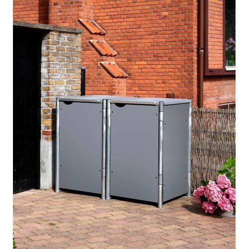 Hide Mülltonnenbox für 2 x 240 l, grau, grau