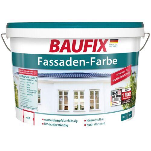 Baufix Fassadenfarbe wetterbeständig, weiß, 10 L, weiß