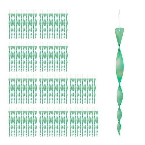 relaxdays Balkonsichtschutz »120 x Vogelabwehr Spirale grün«
