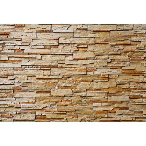 Papermoon Fototapete »Stone Wall«, Vlies, 7 Bahnen, 350 x 260 cm