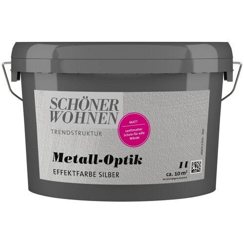 SCHÖNER WOHNEN-Kollektion Wandfarbe »Metalloptik Effektfarbe silber«, 1 l