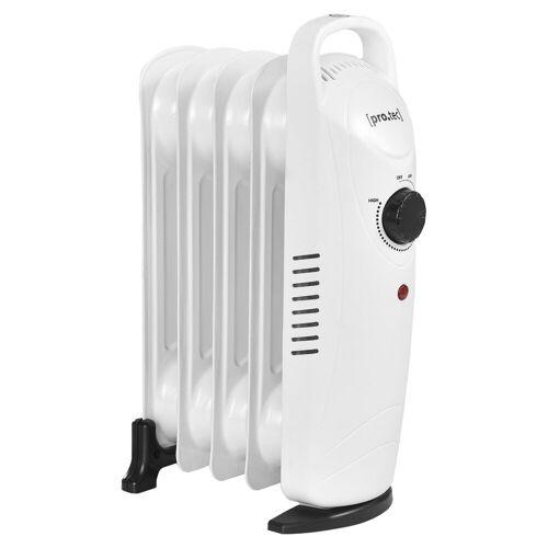 Pro-tec Ölradiator, 500 W, Mobile Elektroheizung 500W Heizkörper weiß