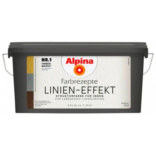 Alpina Spezialfarbe »Farbrezepte - Linien-Effekt«, 4,5 l, matt, weiß