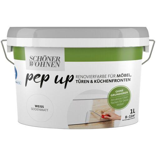 SCHÖNER WOHNEN-Kollektion Lack »pep up - weiß«, seidenmatt, für Möbel, Türen und Küchenfronten, 1 l