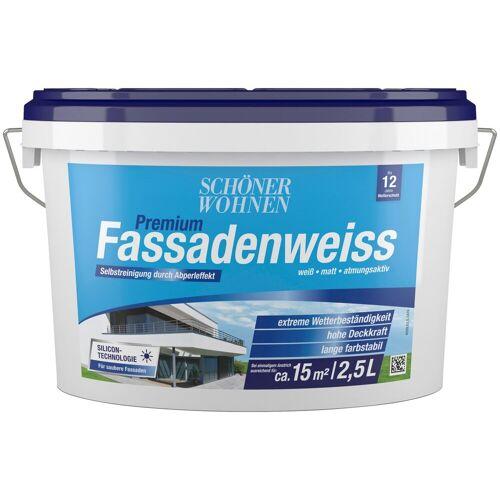 SCHÖNER WOHNEN-Kollektion Fassadenfarbe »Premium-Fassadenweiss«, 2,5 l