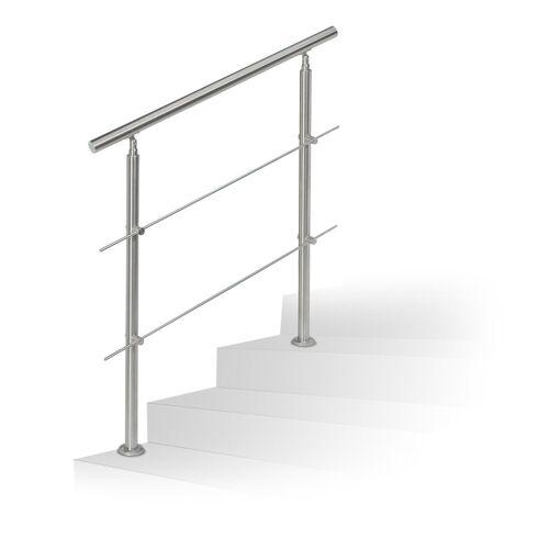 relaxdays Außentreppe »Treppengeländer Edelstahl«