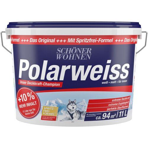 SCHÖNER WOHNEN FARBE Wand- und Deckenfarbe »Polarweiß«, Innenfarbe, Aktionsartikel mit +10% mehr Inhalt und Aktionscode