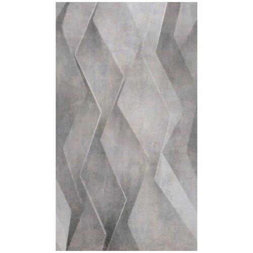 Bodenmeister Fototapete »3d Effekt silber grau«, Rolle 2,80x1,59m, grau
