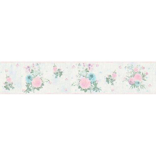 living walls Bordüre »Djooz«, floral, geblümt, mit Blumen, Vlies, bunt-blau