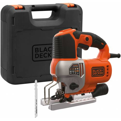 Black & Decker Pendelhubstichsäge 650 W, elektrisch, orange