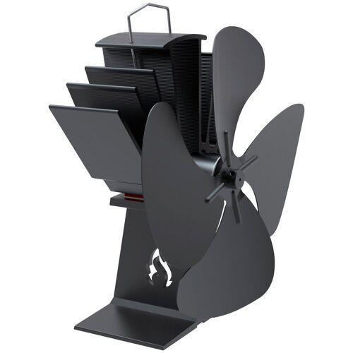 ADURO Ventilator , für Kaminofen, schwarz