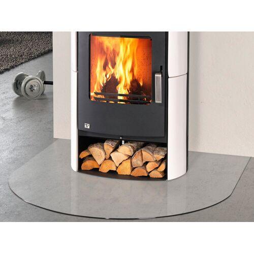 Glasbodenplatte für Kaminöfen , halbrund, 120x120cm, zum Funkenschutz