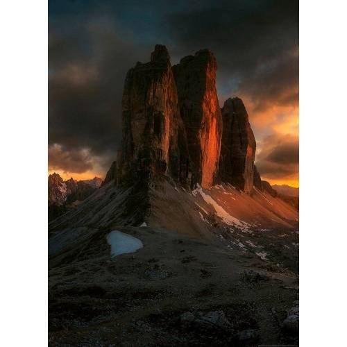 Idealdecor Fototapete »Dolomiten Italien«, Vlies, 2 Bahnen, 183 x 254 cm, bunt