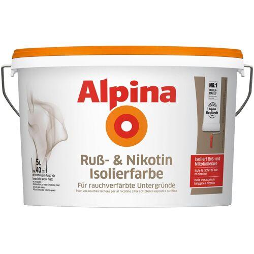 Alpina Innenfarbe »Ruß- und Nikotin Isolierfarbe«, 5 l, matt, weiß