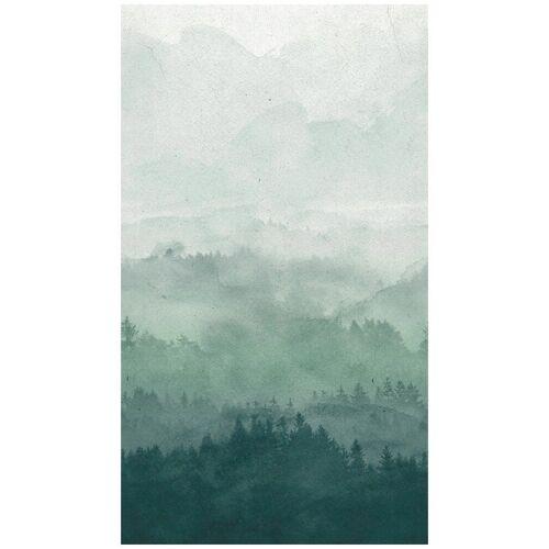 Bodenmeister Fototapete »Effekt Nebel Wald grün«, Rolle 2,80x1,59m, blau