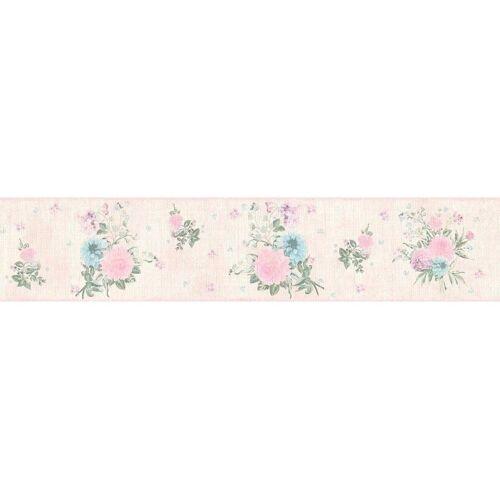 living walls Bordüre »Djooz«, floral, geblümt, mit Blumen, Vlies, rosa-bunt