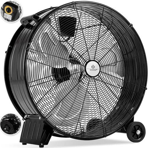 KESSER Standventilator, Industrie Ventilator Trommelventilator Windmaschine Bodenventilator Hallenlüfter Ø60 cm (24) Trommelgebläse Industrieventilator Standventilator Hallenkühlung 160 Watt