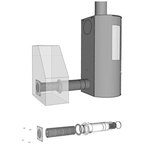 ADURO Ventilator »Frischluftsystem Ø80 mm«, Frischluftsystem für Kaminofen, Ø 80 mm, silberfarben