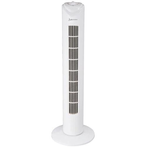 """Bestlivings Turmventilator TVT-32, 82cm """"Weiß"""", Geräuscharm - Ideal fürs Schlafzimmer, Säulenventilator mit Oszillation, 45 Watt, Weiß"""
