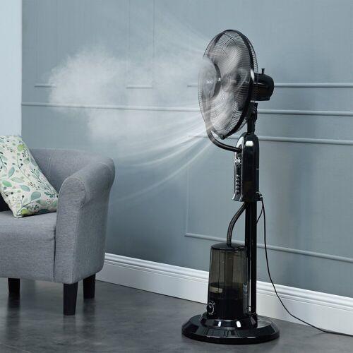 in.tec Standventilator, »Limassol« Nebelventilator Schwarz mit Sprühnebelfunktion