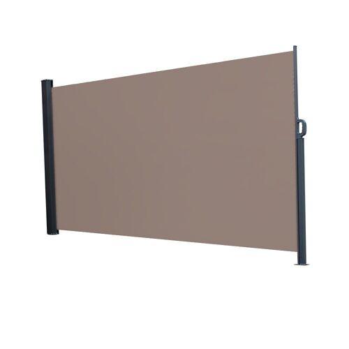 FCH Seitenmarkise Seitenmarkise Seitenwandmarkise Markise Sichtschutz Windschutz Sonnenschutz Balkon 300x160cm, Braun