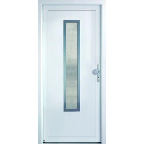 KM Zaun KM MEETH ZAUN GMBH Mehrzweck-Haustür »K329D«, nach Wunschmaß, rechts oder links, mit Griffgarnitur, weiß
