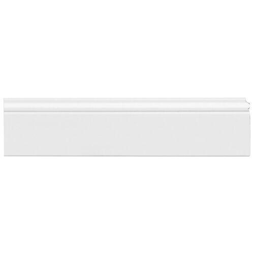 Homestar Zierleiste »CF 11«, HD-Fussleiste, 13 x 80 mm, Länge 2 m, 2 Stk., Kunststoff, weiß
