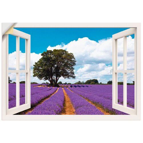 Artland Wandbild »Fensterblick Lavendelfeld im Sommer«, Fensterblick (1 Stück)