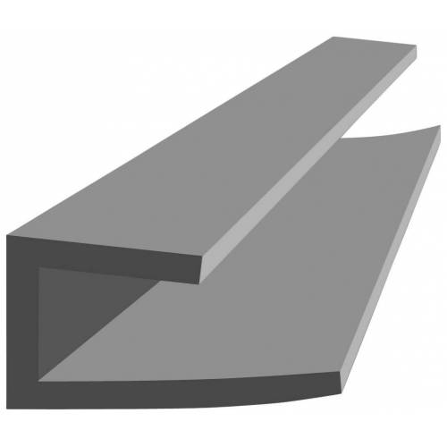 Vox Baukulit VOX Abschlussleiste »Fine-Line B2«, grau