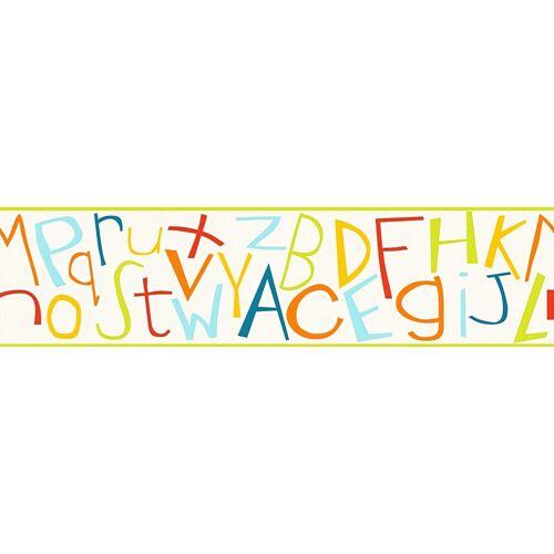 A.S. Création Bordüre »Kids Style«, glatt, mit Schrift, Kinderzimmer