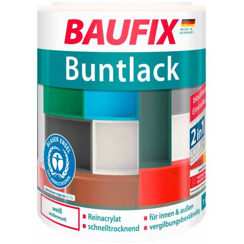Baufix Acryl-Buntlack, 1 Liter, weiß