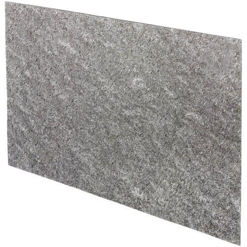 Verblender »Muster Argento«, (1-tlg) Echtstein, Din A4, grau