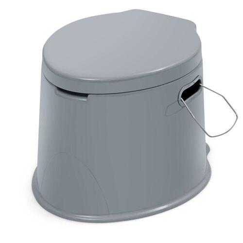 COSTWAY Campingtoilette »Reisetoilette, Mobile Toilette«, mit Toilettenpapierhalter, für Camping, Wandern und Reisen