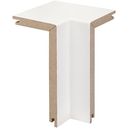 Bodenmeister Set: Innenecken »Rohrabdeckleiste Weiß«, 2er-Pack, Höhe: 10 cm, weiß