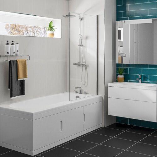 HAK Badewanne »Rechteck Badewanne 167,5x76,5cm mit Einbauschrank und Duschkabine, Links«