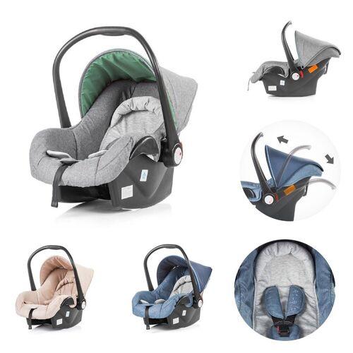 Chipolino Babyschale »Kindersitz, Babyschale Avenue Gruppe 0+«, 2.6 kg, (0 - 13 kg) mit Innenkissen, grau